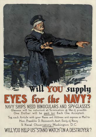 Gordon Grant - Will you supply EYES for the NAVY? border=