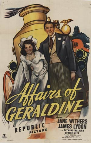 Affairs of Geraldine, Anonymous Artists