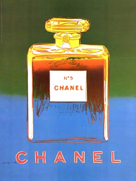 Chanel No 5 Green/ Teal (S), Andy Warhol