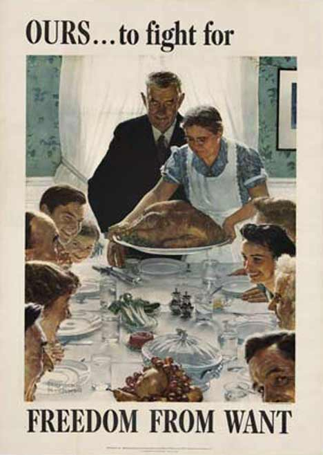 Freedom From Want (M), Norman Rockwell