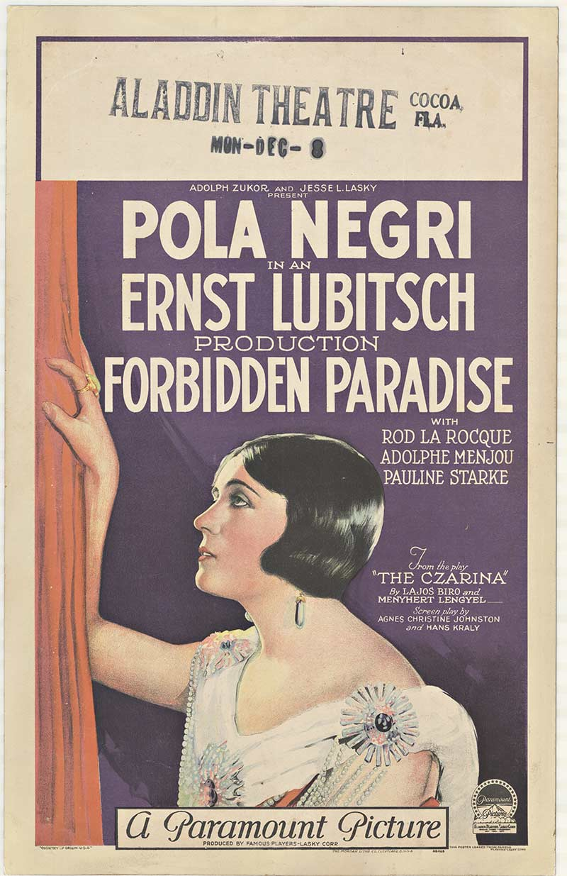 Pola Negri - Forbidden Paradise, Anonymous Artists