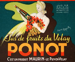 Leonetto Cappiello - Ponot - Jus de fruits fu Velay border=