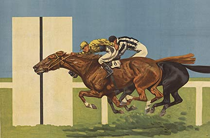 Anonymous Artists - Horse Race (by a nose) border=