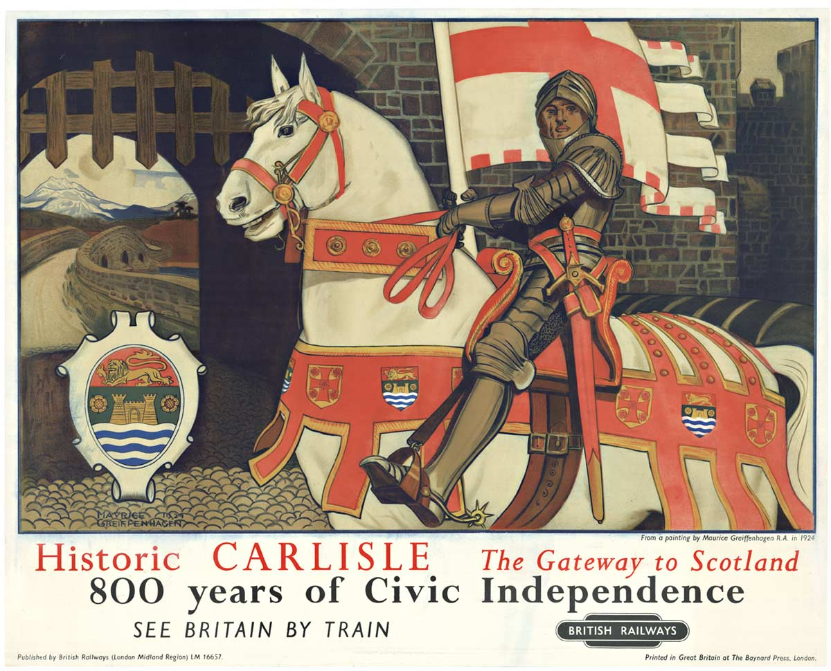 Maurice Greiffenhagen - Historic Carlisle -  Gateway to Scotland border=