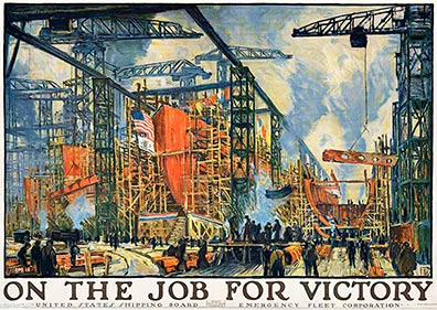 On The Job for Victory (XL size), Jonas Lie