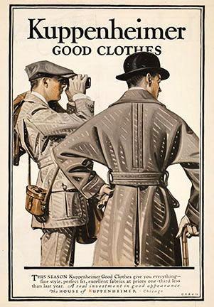 Joseph Christian Leyendecker - Kuppenheimer Good Clothes border=