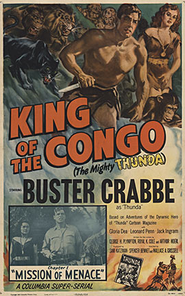 KING of the Congo 1949R 1sh, Anonymous Artists