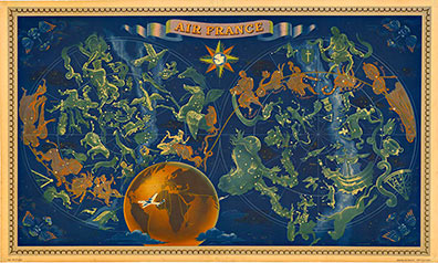 Air france zodiac constellations small lucien boucher the lucien boucher air france zodiac constellations small border gumiabroncs Image collections