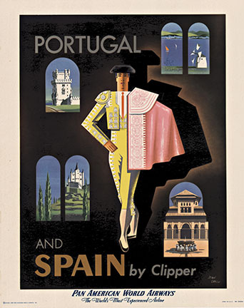 Jean Carlu - Portugal and Spain by Clipper (S) border=