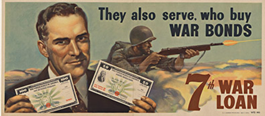 Phil Lyford - They Also Serve, who buy War Bonds border=