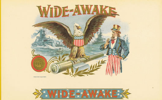 Wide - Awake Cigar Box Label, Anonymous Artists