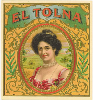 El Tolna cigar box label, Anonymous Artists
