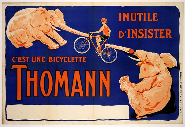 Thomann Bicycle Poster, Anonymous Artists