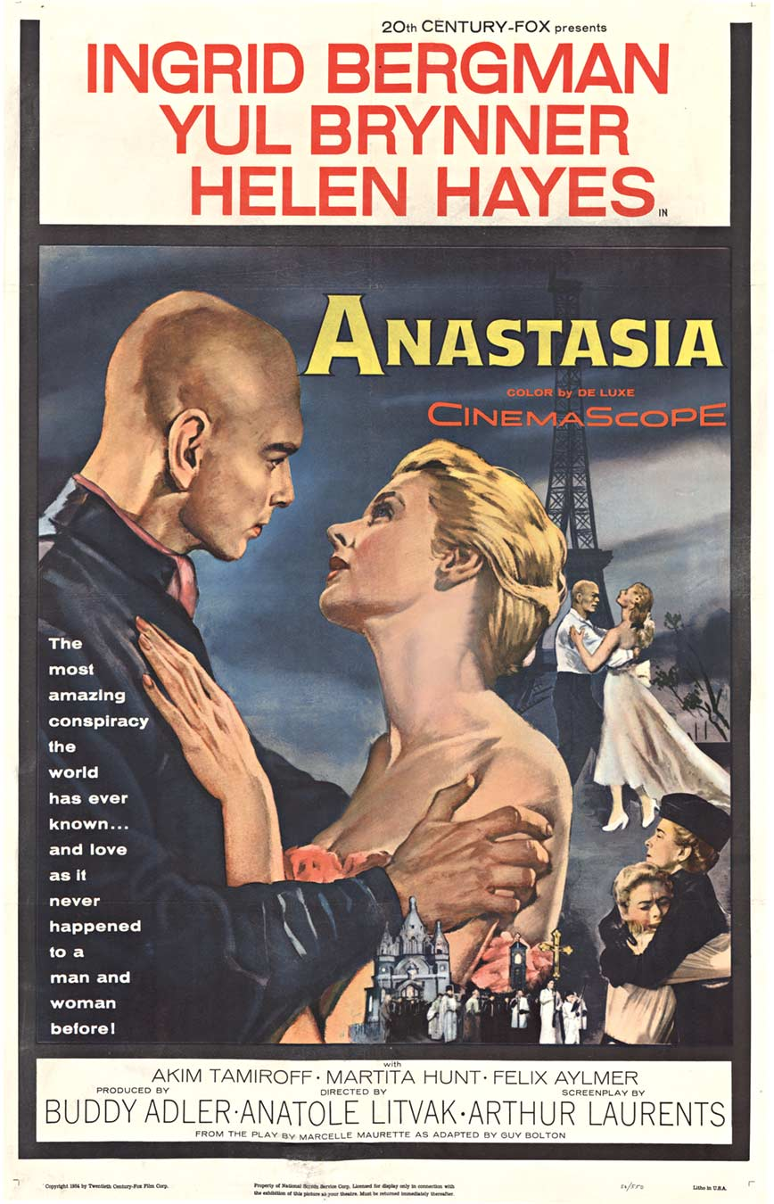 Anastasia 1956 1 sheet movie poster, Anonymous Artists