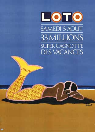 Lottery Mermaid, Bernard Villemot