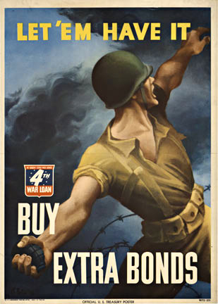 Let 'Em Have It Buy Extra Bonds (Small), Bernard Perlin