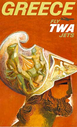 Greece Fly TWA Jets, David Klein