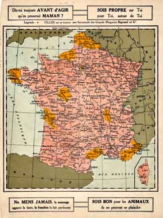 France - French Map (small), Anonymous Artists