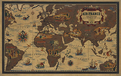 Air France Planisphere, Lucien Boucher