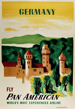 Fly Pan American Germany, Edward McKnight Kauffer