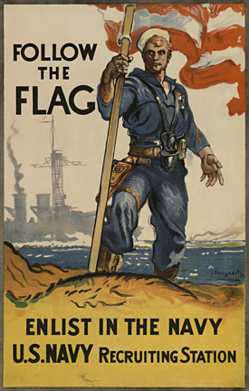 James Henry Daugherty - Follow the Flag - Enlist In The Navy border=