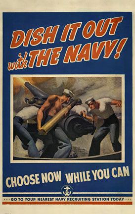 Dish It Out with the Navy, McClelland Barclay