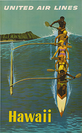 United Hawaii (Outrigger on Wave), Stanley W. Galli