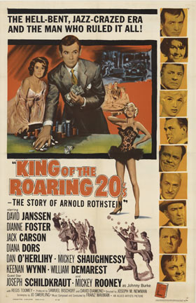 KING OF THE ROARING 20'S 1sh, Anonymous Artists