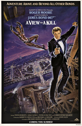 A View to a Kill - advance 1 sheet, Dan Goozee