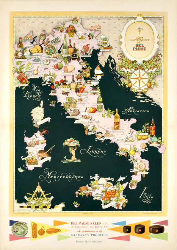 Bel Paese (Gastronomic Map of Italy), Vsevolod Niculin