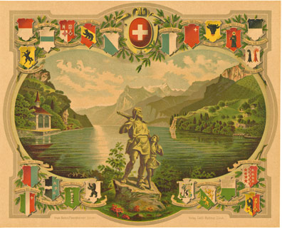 Anonymous Artists - Switzerland (Swiss) Cantons border=