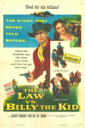 The Law vs. Billy the Kid, Anonymous Artists