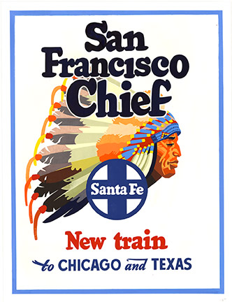 Don Perceval - San Francisco Chief Santa Fe New Train to Chicago and Texas border=