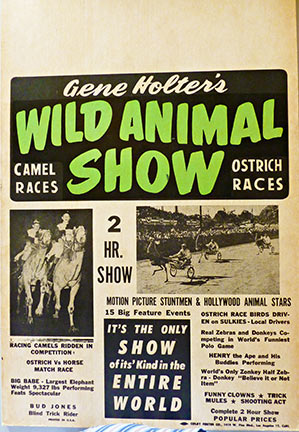 Gene Holter's Wild Animal Show, Anonymous Artists