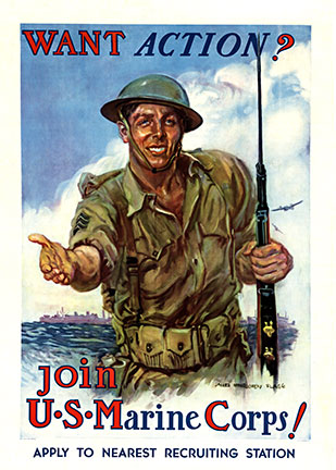 Want Action ?.. Join the U. S. Marines, James Montgomery Flagg