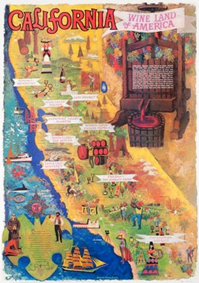 California Wine Land Of America