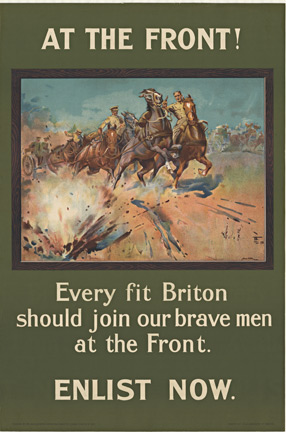 AT THE FRONT!  Every fit Briton, Lionel Edwards