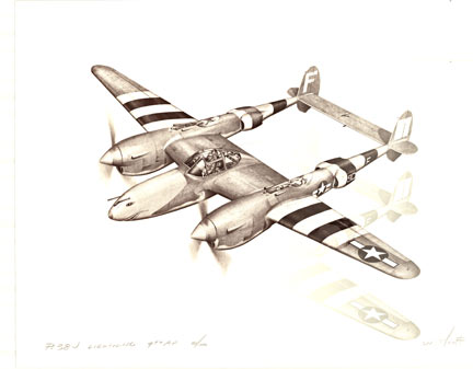 Dan Witkoff - P - 38 J Lightning 9th AF border=