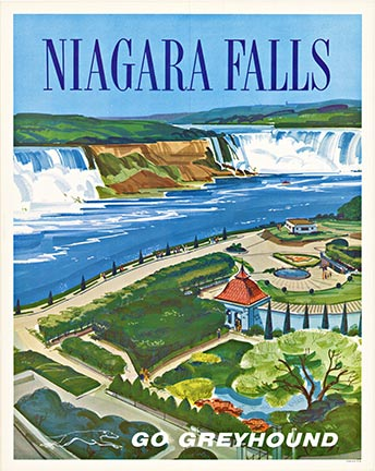 Anonymous Artists - Niagara Fall  GO GREYHOUND (S) border=