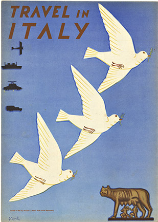 Travel in Italy (Doves), Signed