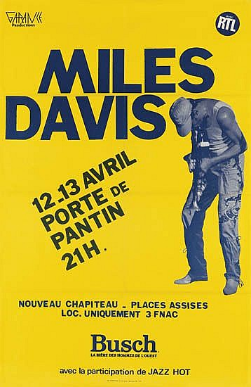 Anonymous Artists - Miles Davis French Concert Poster border=