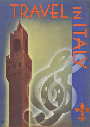 Travel in Italy (Bell Tower), Signed