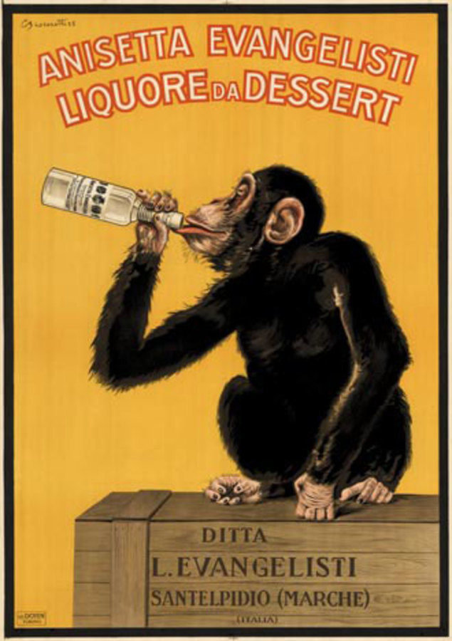 Anisetta Evangelisti A K A Monkey Carlo Biscaretti The Vintage Poster