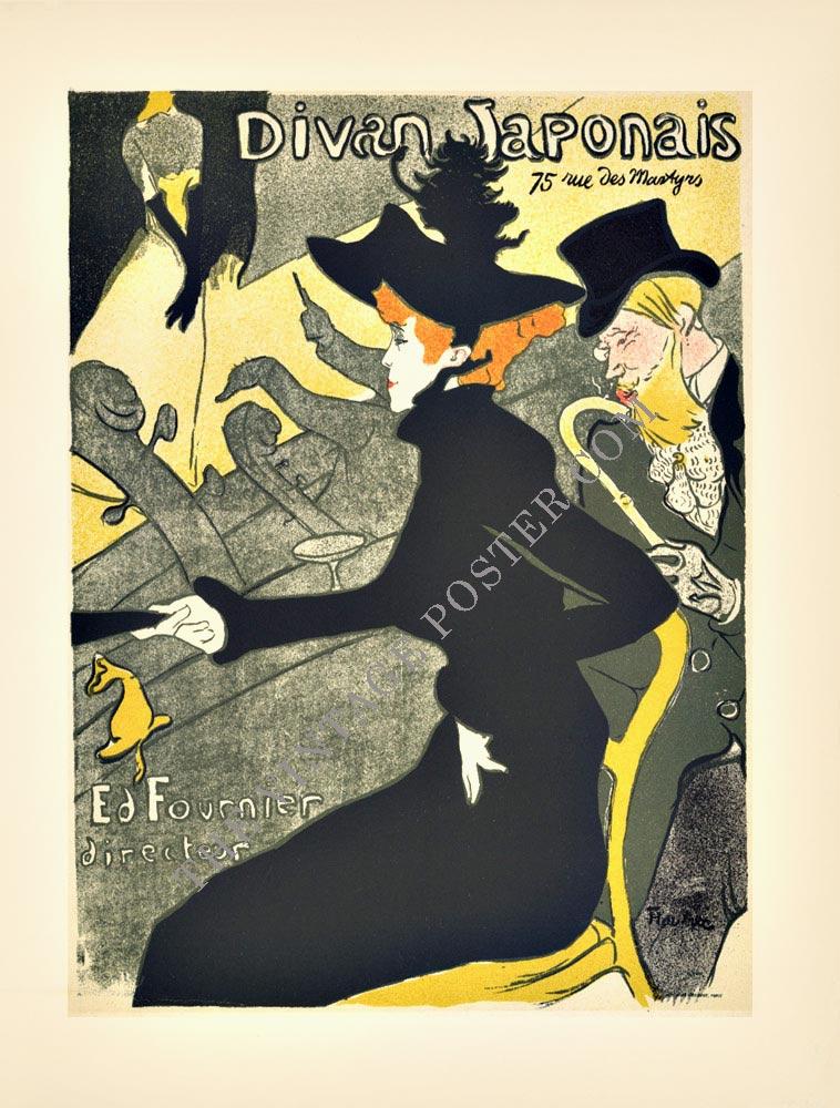 Divan japonais henri toulouse lautrec the vintage poster for Divan japonais toulouse lautrec