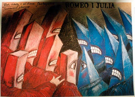 Polish Romeo I Julia Andrzej Pagowski The Vintage Poster