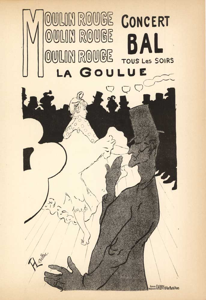 Henri Toulouse-Lautrec - BAL DU MOULIN ROUGE border=