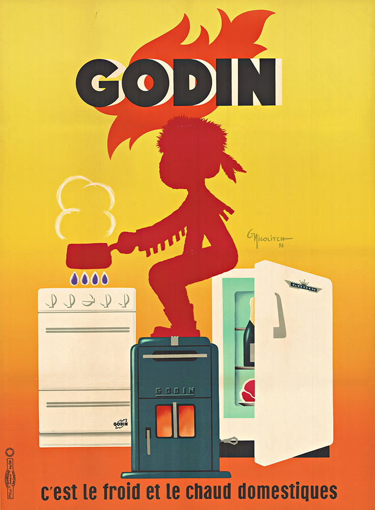 Godin French Kitchen Poster Obrand Nicolitch The Vintage Poster