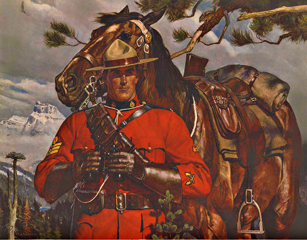 Royal Canadian Mounted Police Rcmp Arnold Friberg The Vintage Poster