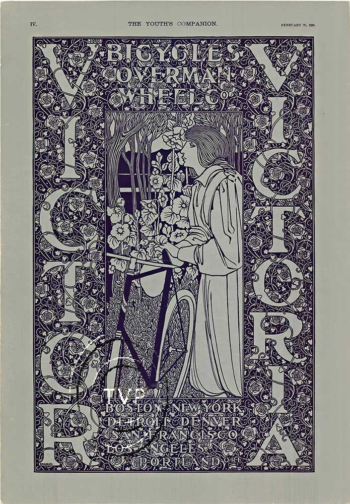 Victor Victoria Bicycles Will William H Bradley The Vintage Poster
