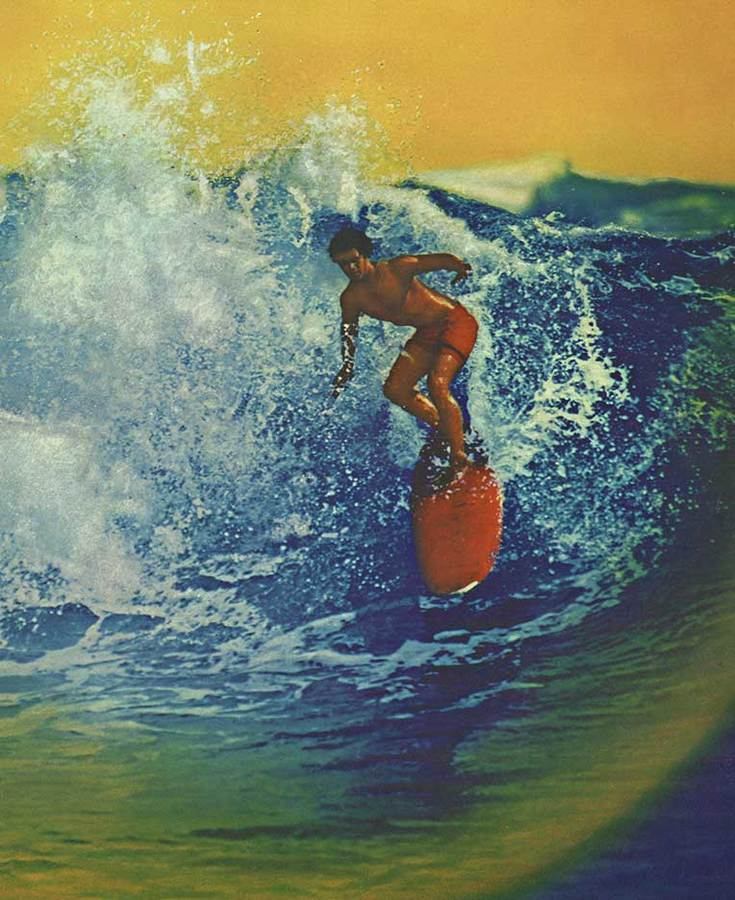 Anonymous Artists - PAN AM HAWAII Surfing Poster